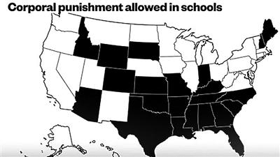 """美国至今有近20个州的公立学校允许""""打""""学生"""