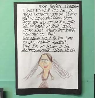 娃写给 Margaret Hamilton的信
