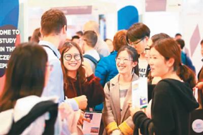 2018年中国国际教育展现场。中国教育国际交流协会供图。