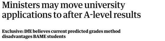 英国大学招生制度将改革 有A-Level成绩才能申请大学