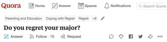 美版知乎上的提问:你后悔选择你的专业吗?