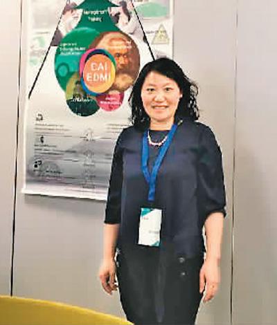肖礼彬致力于用跨学科的视角推动跨文化传播,尤其是中国传统文化的对外传播。图为其参加英国帝国理工学院举办的第十五届国际同心人文会议留影。