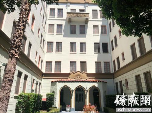 徐浩玥新搬入的公寓。(图片来源:美国《侨报》/记者章宁 摄)