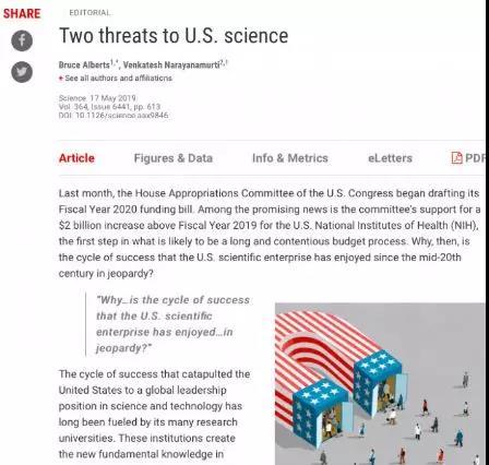 《科学》杂志网站截图