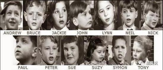 影片中的14位小孩