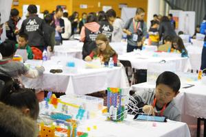 动脑动手拼创意 KOOV亮相亚洲机器人大赛