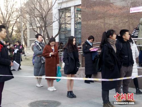 中国传媒大学艺考现场。袁秀月 摄
