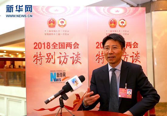 全国人大代表、四川省教育厅厅长朱世宏。 新华网 图