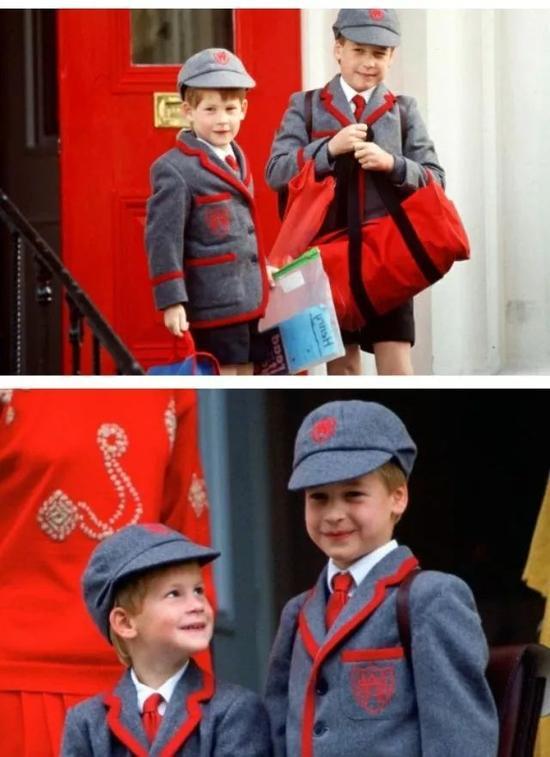 两位王子在Wetherby School读书时的萌样