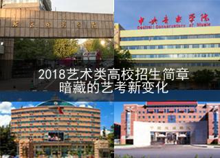 2018艺术类高校招生简章暗藏的新变化