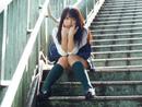 日本少女制服露底