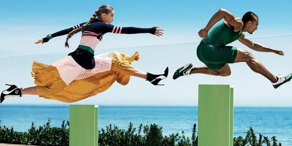超模与运动员共登时尚杂封面 力量与美的碰撞