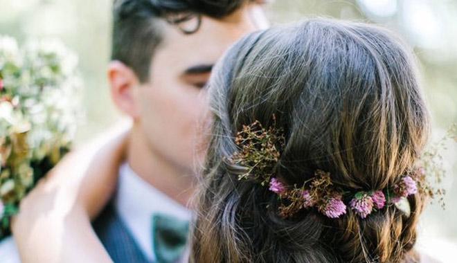最适合小清新婚礼的发饰都在这里——发箍&发带篇