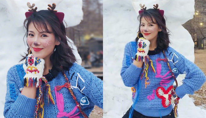 王珂为刘涛画出超美小鹿妆? 学下三款圣诞必备妆容