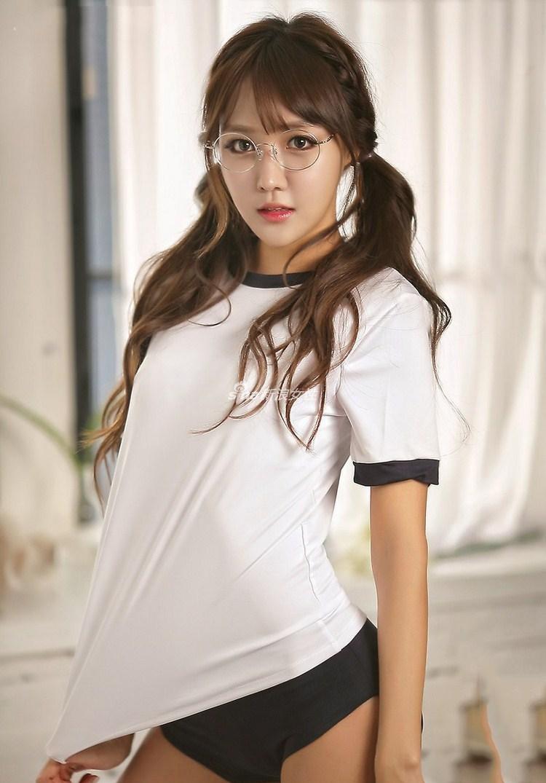韩国车模学生装 美女可爱甜心清纯动人