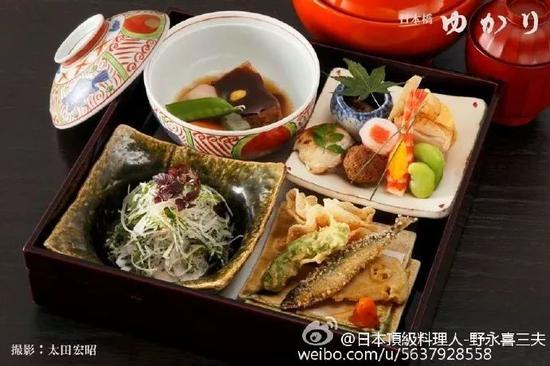 老字号日料店日本桥缘最具人气午餐便当(yukari御膳)