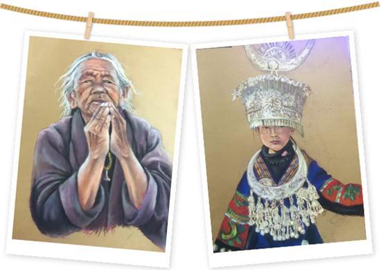 """周燕绘画作品 本文图片均来自""""成都儿童团""""微信公众号"""