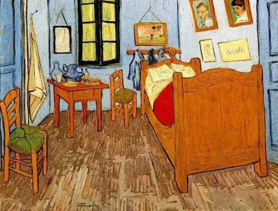 梵·高《卧室(二)》1889年