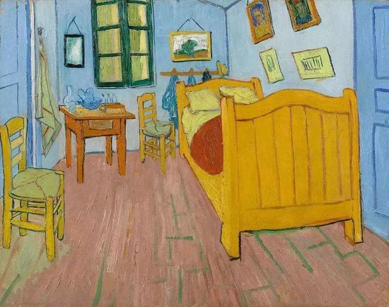 梵·高《卧室(三)》1889年