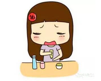 短发卡通女孩流泪