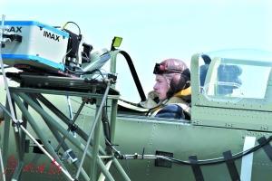 《敦刻尔克》用IMAX摄影机拍摄空战。