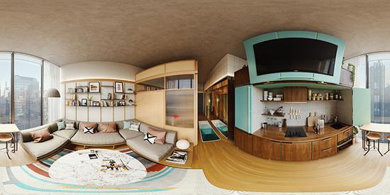 在住宅项目Welive中,入住者拥有公共的厨房、休闲空间,及独立卧室