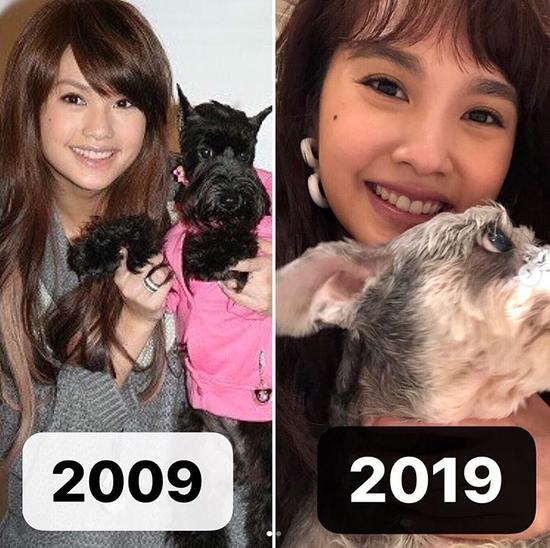 杨丞琳十年对比照