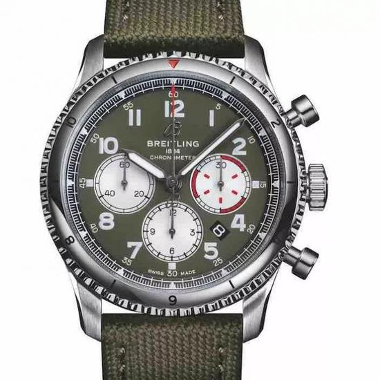 百年灵飞行员8 B01计时腕表43柯蒂斯战鹰特别版