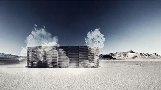 开在沙漠中的桑拿房,用于人们放松和冥想