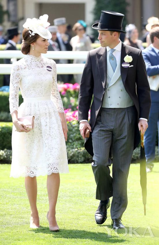 威廉王子和凯特王妃在赛马会 图片来自Royal Ascot官网