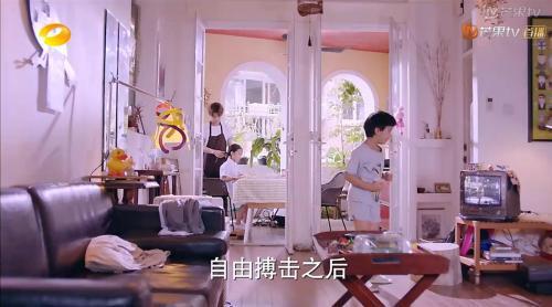 视频截图:男主角住的房子