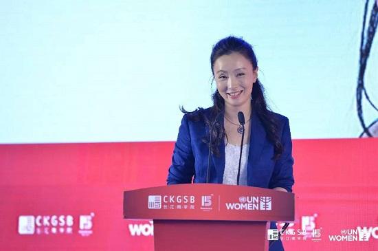 著名演员,原国家花样游泳运动员,长江商学院校友陶虹女士为论坛做主旨演讲