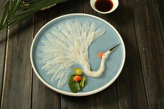 河豚刺身-鹤盛