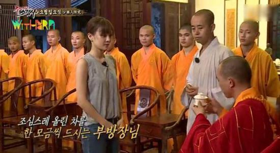 韓女星入住南少林 真人秀這麼拼佛祖知道嗎