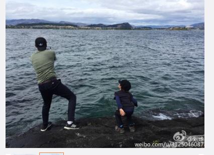 劉燁帶諾一釣魚 水邊賣力甩魚竿自我感覺良好