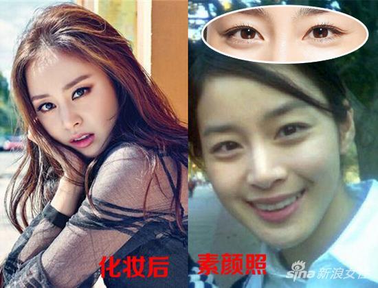 不过千万别以为开扇型双眼皮就与烟熏妆神马的绝缘了。一直被称为韩国第一美女的金泰熙,同样是超自然的开扇型双眼皮,浓妆照样性感魅惑得不要不要的。而卸掉眼妆的她,则是青春无敌,眼睛同样传神。