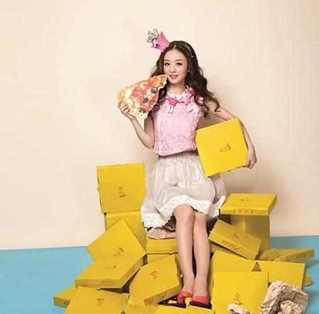 赵丽颖杨颖扮可爱比人气 两人却都输给这个女明星