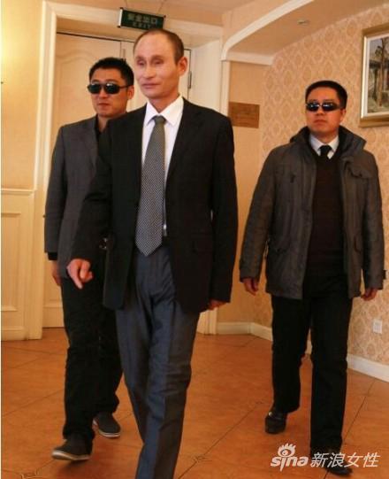 撞脸俄罗斯总统普京
