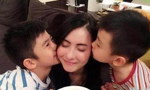 张柏芝与两儿子