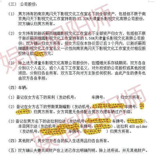 贾乃亮李小璐疑曝离婚协议 李小璐方回应:假的