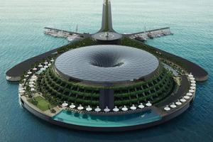 在海上造35000�O漂浮酒店 引千万网友围观