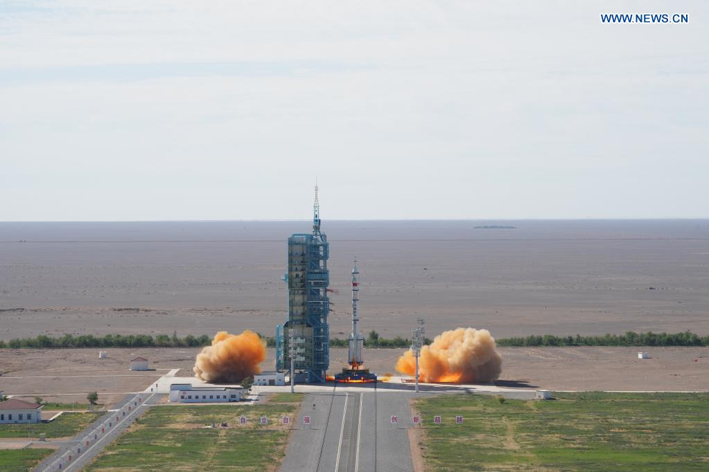China launches first crewed mission for space station construction