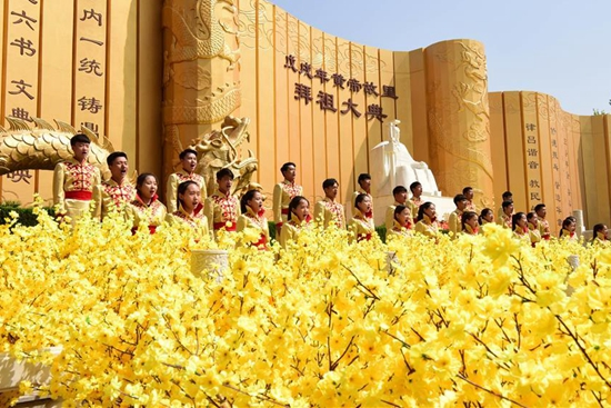 Worshipping ceremony to mark ancestor Huangdi held in central China's Zhengzhou