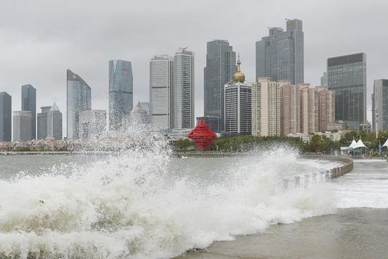 Typhoon Yagi hits Qingdao, east China's Shandong