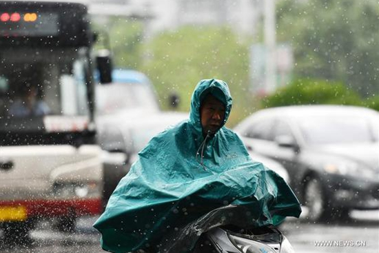 Rainfall hits China's Tianjin