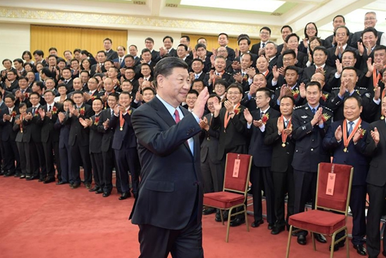 Xi meets model civil servants