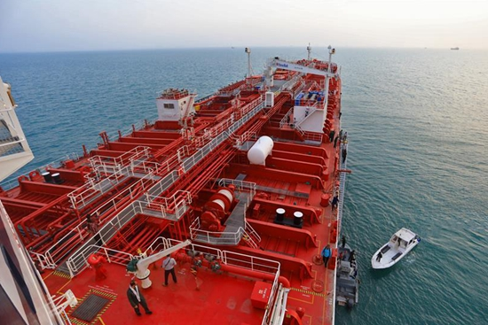 "In pics: British oil tanker ""Stena Impero"" near Strait of Hormuz, Iran"