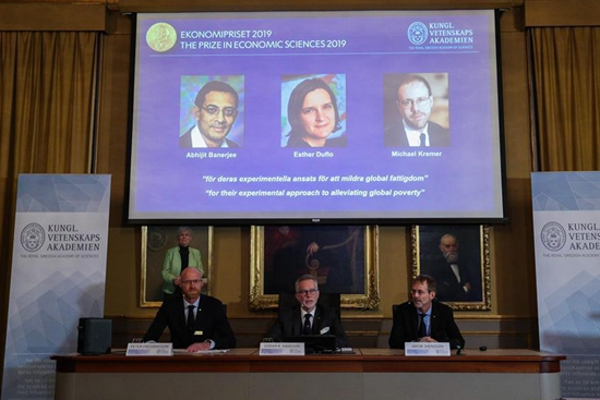 3 economists share Nobel Economics Prize for work on poverty