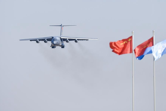Stealth fighters perform in PLA air force 70th anniversary celebrations