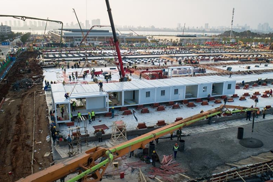 Two hospitals for novel coronavirus treatment under construction in Wuhan